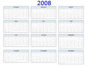 2008 calendar template