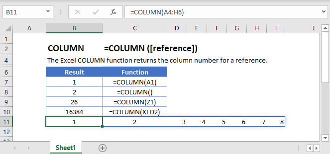 COLUMN Main Function
