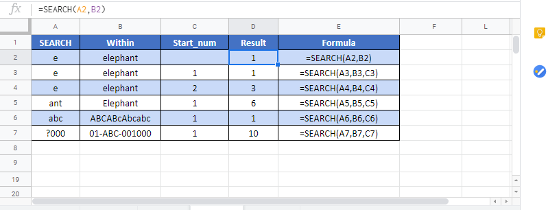Search G Function