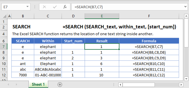 Search Main Function