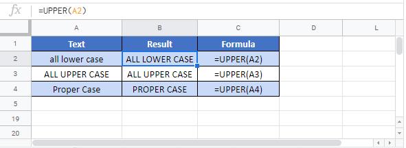 Upper G Function