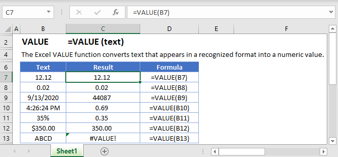 VALUE Main Function