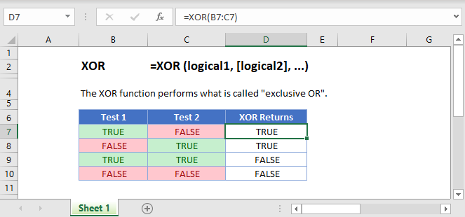 XOR Main Function