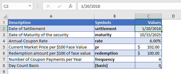 yield function ex 1 data