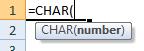 char formula syntax