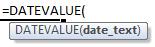 datevalue formula syntax