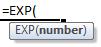 exp formula syntax