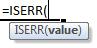 iserr formula syntax
