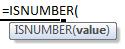 isnumber formula syntax