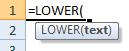 lower formula syntax