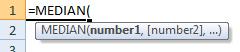 median formula syntax