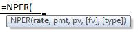 nper formula syntax