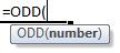 odd formula syntax