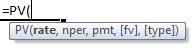 pv formula syntax