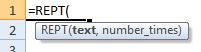 rept formula syntax