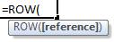 row formula syntax
