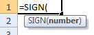 sign formula syntax
