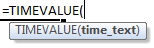 timevalue formula syntax