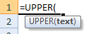 upper formula syntax