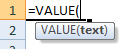 value formula syntax