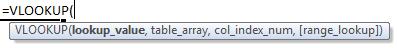 vlookup formula syntax