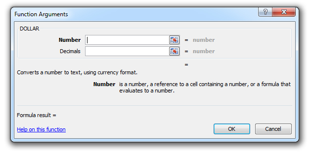 how to use the dollar function in excel