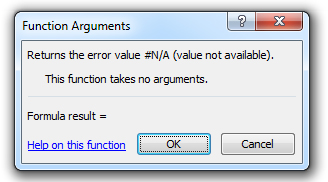 how to use the na function in excel