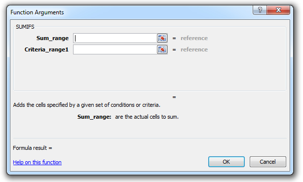 how to use the sumifs function in excel