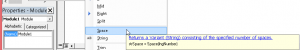 Insert Spaces Into Strings of Text in VBA