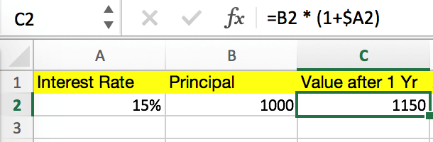 Excel Compound Interest Formula