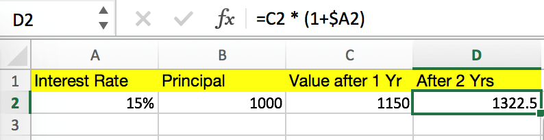 Compound Interest Excel