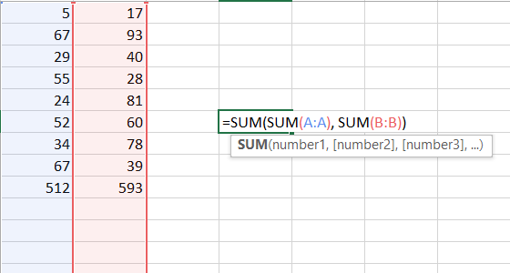 Use Multiple Sum Functions to Sum Multiple Columns at Once