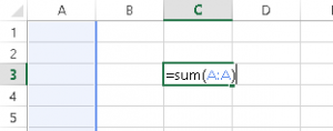 Sum an Entire Column in Excel