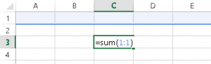 Sum an Entire Row in Excel