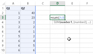 Sum Multiple Columns At Once in Excel