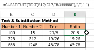 substitute text function excel