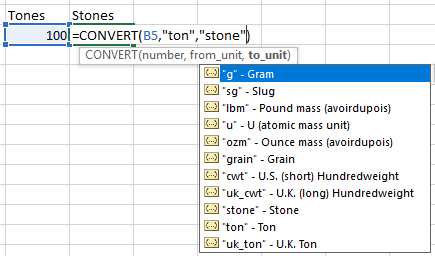 Convert Most Common Excel Function
