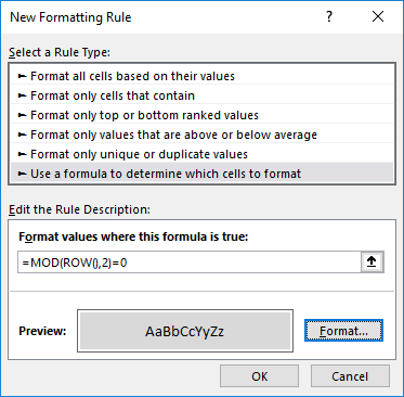 excel mod function