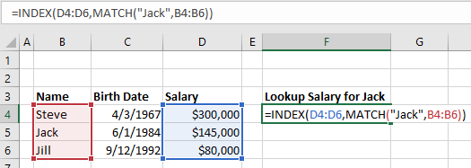 index match lookup example