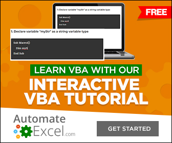 learn vba tutorial