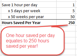 time saving excel