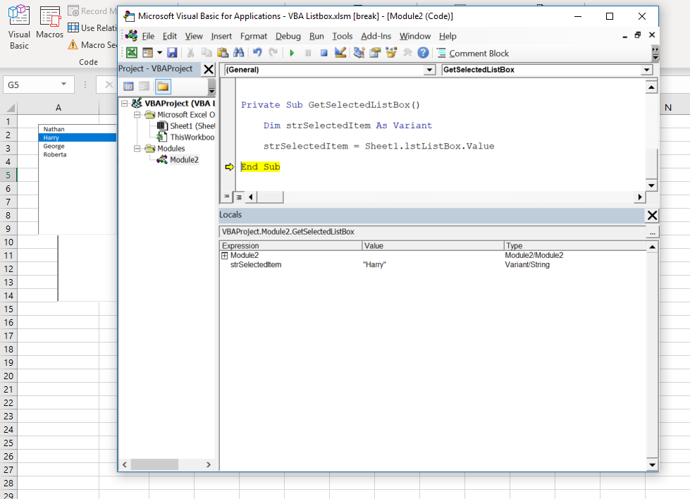 vba-listbox-get-selected-value - Automate Excel