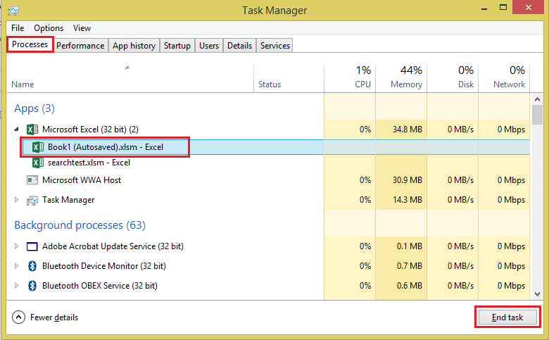 RunMacro - Task Manager