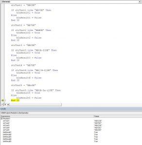 vba like operator different matching patterns