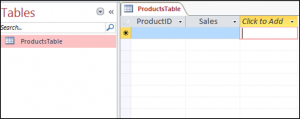 Create a Table in Access VBA