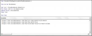 Show all Hyperlinks in the Intermediate Window Using VBA