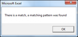 Using The Like Operator To Match Patterns in VBA