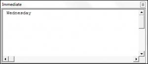 Using the WeekdayName Function in VBA