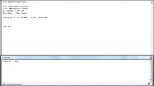 Using Debug.Print to Display Results in VBA