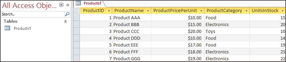 Access VBA Findfirst - Automate Excel
